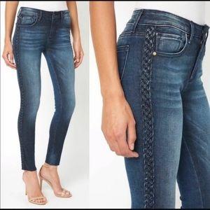 Driftwood Jackie Braided Side Skinny Jean Size 27